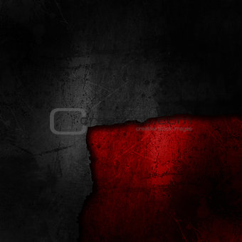 Grunge cracked background in black and red