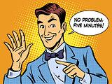 Service five minutes businessman