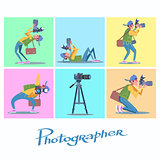 Set photographer camera reporter blogger journalist paparazzi