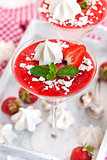 Delicious creamy strawberry mousse
