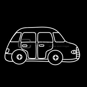 Car symbol black background