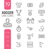 Soccer Thin Lines Web Icon Set