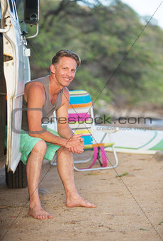 Adult Surfer at Beach