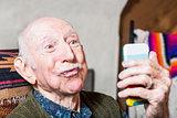Older Gentleman with Smartphone