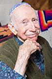 Elderly Gentleman Wearing Yarmulke