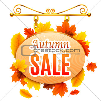 Autumn Sale Signboard