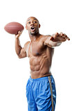 Muscular Football Player