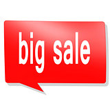 Big sale word on red speech bubble