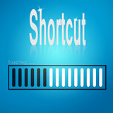 Shortcut blue loading bar