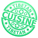 Tibetan cuisine stamp