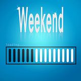Weekend blue loading bar