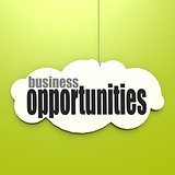 White cloud with business opportunities