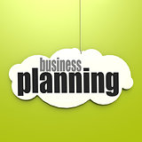 White cloud with business planning