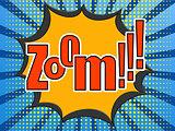 Zoom comic speech bubble