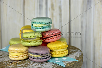 French Macaroon with ribbon