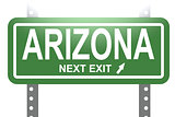Arizona green sign board isolated