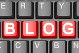 Blog button on modern computer keyboard