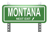 Montana green sign board isolated