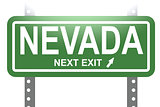Nevada green sign board isolated