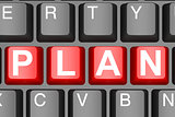 Plan button on modern computer keyboard