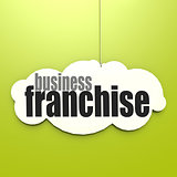 White cloud with franchise business