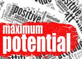 Word cloud maximum potential
