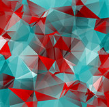 red blue background