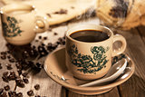 Traditional style Nan Yang coffee in vintage mug