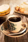 Traditional oriental Hainan coffee and breakfast
