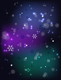 Christmas snowfall on a dark base. EPS10 vector illustration