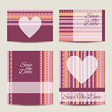 Save the date card set