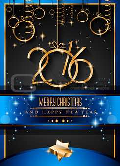 2016 Happy New Year Background for your Christmas dinners