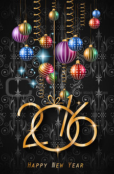 2016 Happy New Year Background for your Christmas dinner