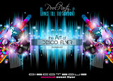 Club Disco Flyer Set with Music themed backgrounds