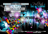 Club Disco Flyer Set with LOW POLY DJs