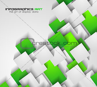 Abtract cubes background for brochures and flyers