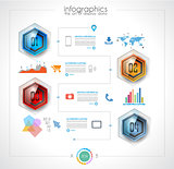 Timeline to display your data in order with Infographic elements