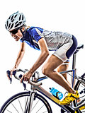 woman triathlon ironman athlete cyclist cycling