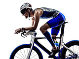 triathlon iron man athlete cyclist bicycling