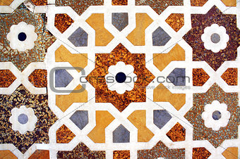 Ancient mosaic on marble, India