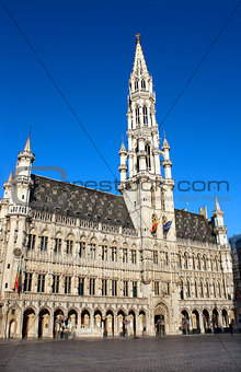 Town Hall on Grand place in Brussel, Belgium