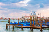 Mooring for gondolas in Venice, Italy