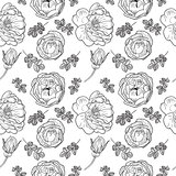 Briar rose sketch seamless