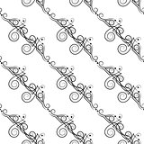 Vector seamless pattern of elegant flourishes