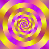 Yellow and Pink Spiral Rings
