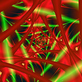 Red and Green Neural Network Spiral
