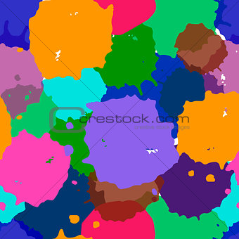 Abstract watercolor illustration of mix colors, background, a mixture of colors, stains. Bright watercolor blobs seamless pattern. Vector background.