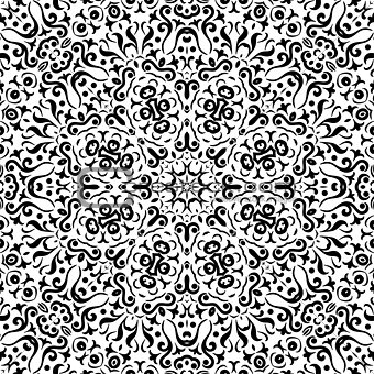 Abstract seamless outline pattern