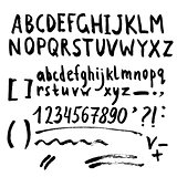 Hand drawn brush stroke font