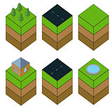 Isometric icons set